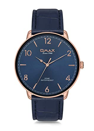 b07fda1b7ab71 OMAX Analog Men s Watch Brand Formal Quartz Dial Adjustable Buckle Leather  Strap Watch