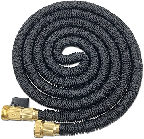 Titan Expanding Garden Water Hose by Premium Leak-resistant Solid Metal Connectors Super Strong and Durable Double Layer Latex Core Design Expandable Flexible and Lightweight For Home Use (50FT) Premium Water Hose