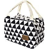 Bollysky Portable Thermal Insulated Cooler Bag For Women Kids Men, Insulated Tote Bag Universal Insulated Canvas Box Mini Lunch Bag For Kids (Black)