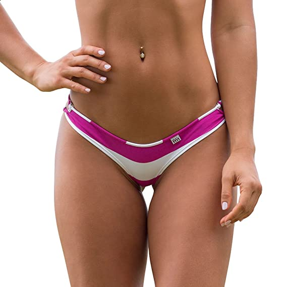 a1c416744f6 Wicked Weasel Sexy Sailor Stripe - Cheeky Bikini Bottom (251) Women's  Swimsuits - Purple