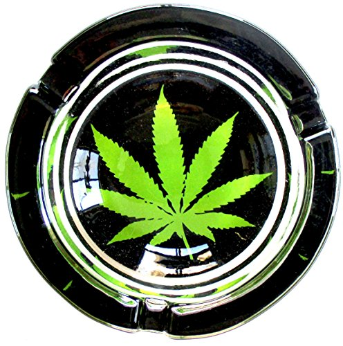 Marijuana-Weed-Round-Glass-Ashtray-Original-Model