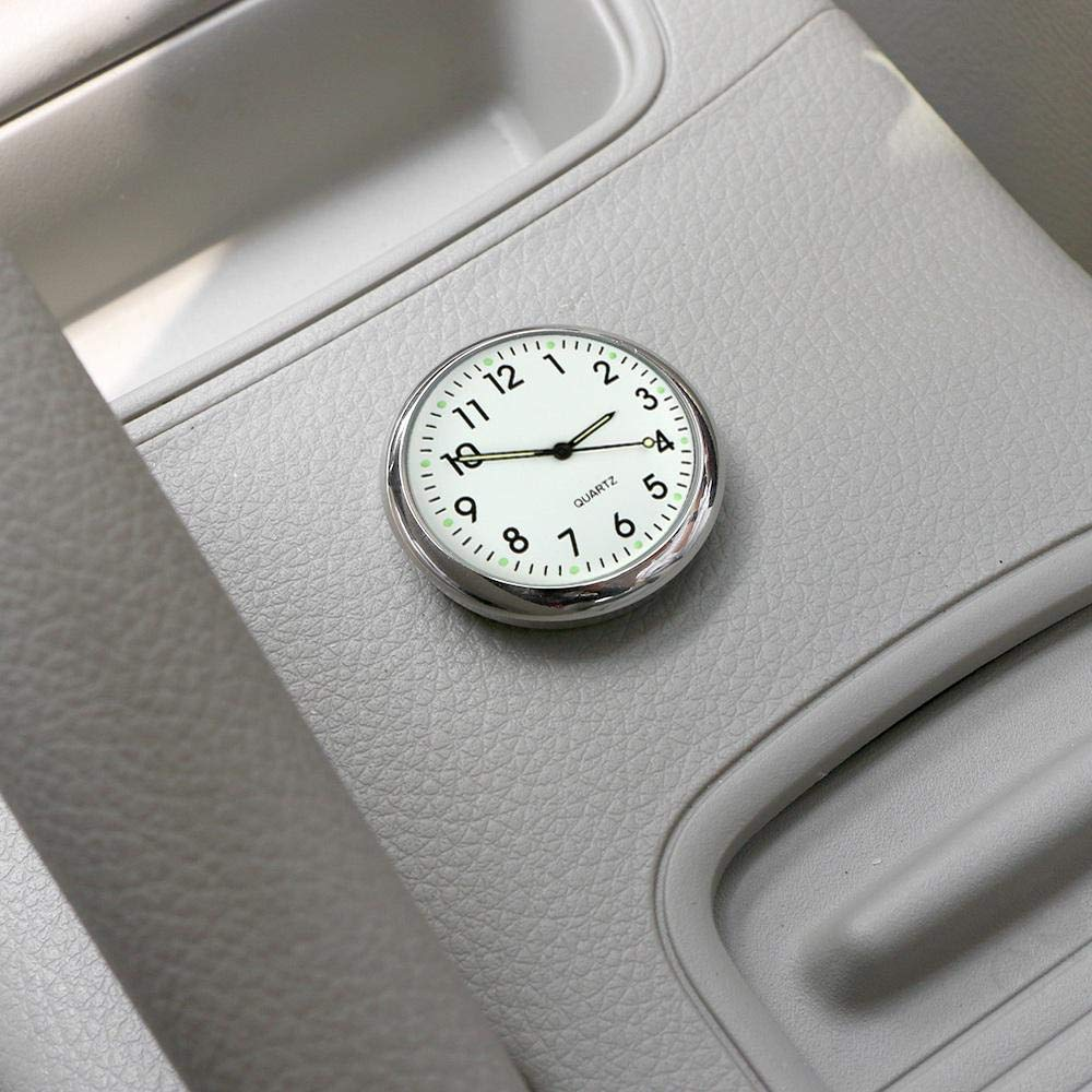 MOGOI Car Dashboard Clock Universal Car Air Vent Quartz Clock Automobiles Interior Decoration Stick-On Clock Ornaments for Office Cars SUV MPV.