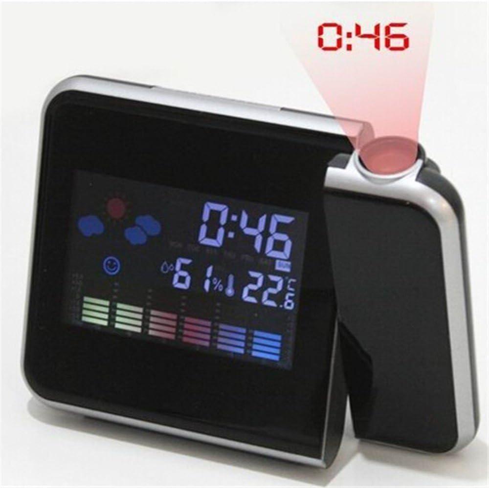 Estación meteorológica de LED proyector Reloj despertador ...