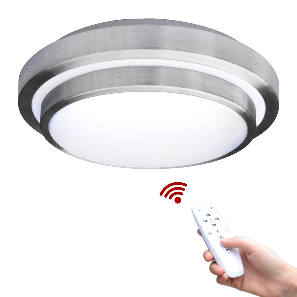 Modern LED Flush Mount 15w 1500lm Aluminum Acrylic Ceiling Light 11'' Round Dimmable with Remote Control by LightInTheBox