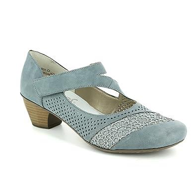 fb09cfcd89 Rieker 41743-12 SARMICA Denim Blue Womens Heeled Shoes  Amazon.co.uk  Shoes    Bags