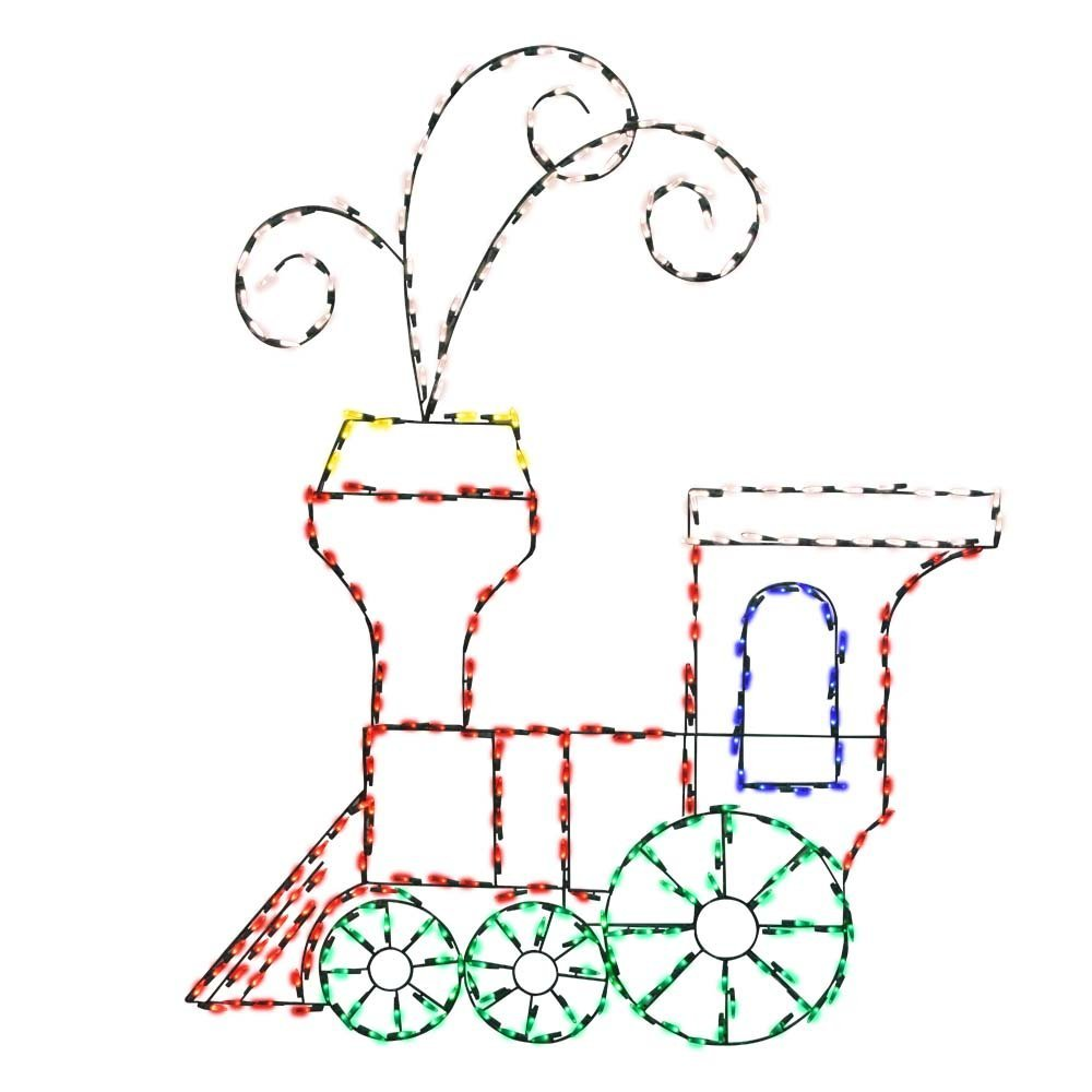 ProductWorks 60-Inch Pro-Line Animotion Toy Train Christmas Decoration
