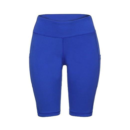 Amazon.com: Yoga Shorts Pocket Leggings Fitness Sports Gym ...