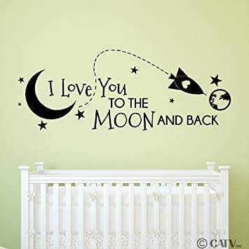 Amazon.com: Rocket I Love You To The Moon And Back vinyl lettering ...