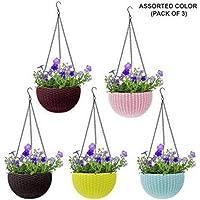 GTB Hanging Planter Flower Pot Basket Plant Container Set Bowl Shape Big size-fp-01-5pc