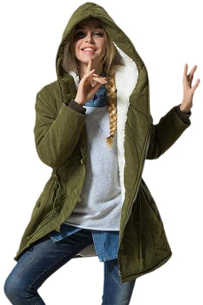 ... Elegantes Outdoor Casuales Basic Chaqueta De Temporada con Cremallera Manga Largo Terciopelo Grueso Abrigos Outerwear Ropa: Amazon.es: Ropa y accesorios