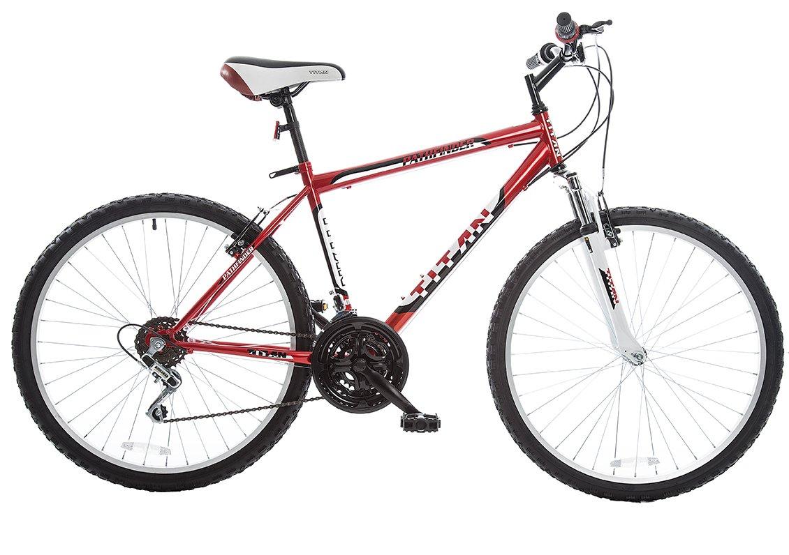All Terrain Bike >> Amazon Com Titan Pathfinder Mens 18 Speed All Terrain Mountain