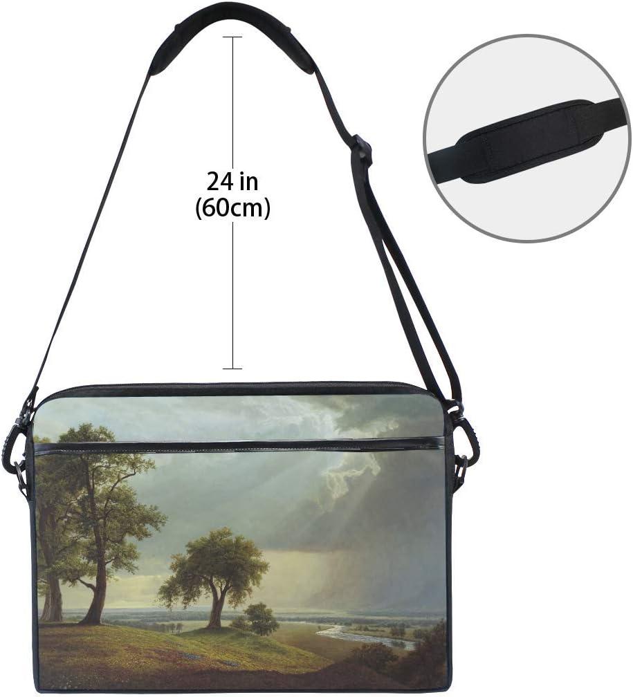 Field Tree Art Laptop Shoulder Messenger Bag Case Sleeve for 14 Inch to 15.6 Inch with Adjustable Notebook Shoulder Strap