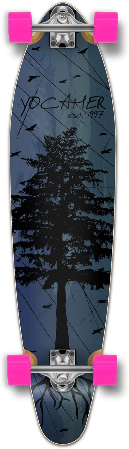 Yocaher Pintail Longboard Complete In the Pines Blue
