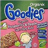 Organix Goodies Organic Soft Oaty Bars - Raspberry & Apple 12mth+ (6x30g) - Pack of 6