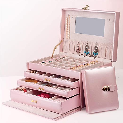 Joyería de la caja de la Mujer, de gran capacidad de la caja de ...