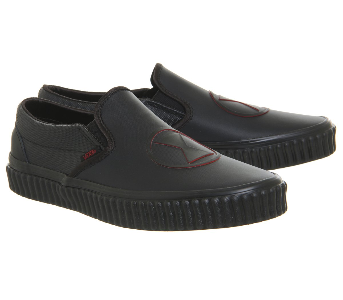 Vans Unisex Classic (Checkerboard) Slip-On Skate Shoe Women B0784XPSSJ 10 M US Women Shoe / 8.5 M US Men|(Marvel) Black Widow/Black 437c82