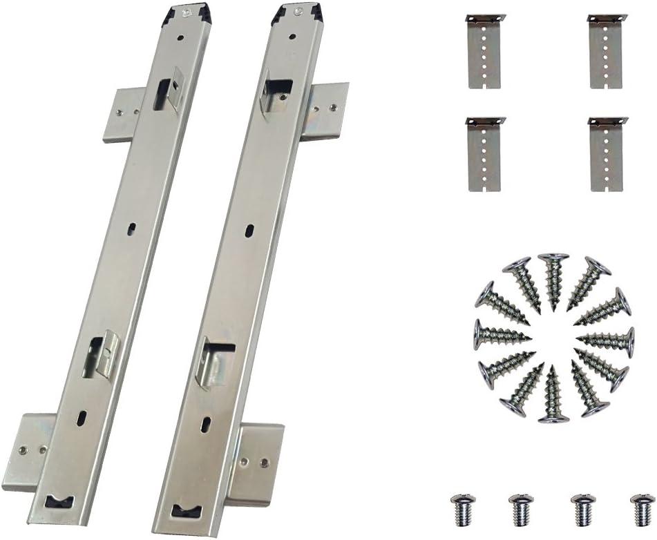 305 mm, argent FRMSAET Coulisses de tiroir pour clavier 305//355//405//455 mm Accessoires de montage de mat/ériel pour tiroir pour clavier coulissant.