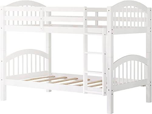 Bunk Bed Twin Over Twin 500 LB Heavy Duty,JULYFOX 2 Pine Wood Bed Frame