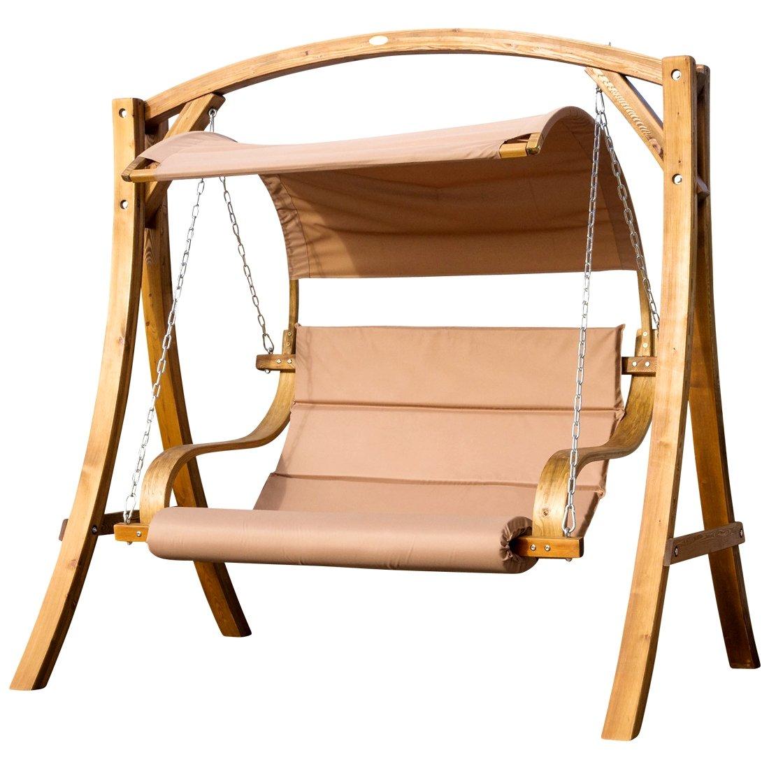 Diseño oscilación del pórtico columpio hamaca del jardín de madera ...