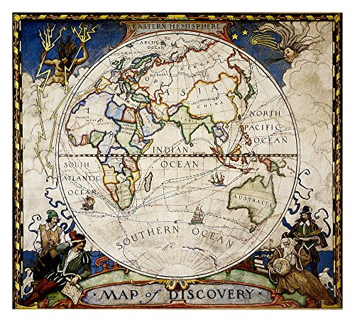 (National Geographic: Map of Discovery, Eastern Hemisphere Wall Map (19 x 21 inches) (National Geographic Reference Map))
