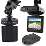 """KLAREN New 2.5"""" Full HD Car DVR Vehicle Camera Video Recorder Dash Cam IR Day and Night Vision with 6 LEDs 270 Degrees Screen Whirl 120 Degrees View Angle"""