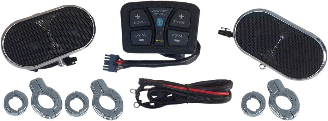 Metrix MA4-BT Gray Universal Handlebar Audio Kit (Speaker System, Bluetooth Works on Bikes, as Well as UTVs, ATVs,etc.)