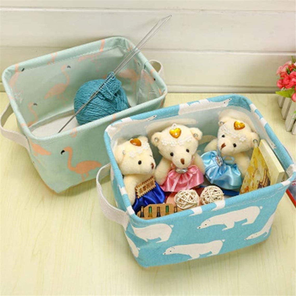 Cotton Storage Basket Portable Small Bath Basket Desktop Storage Box Kitchen Basket Home Organizer