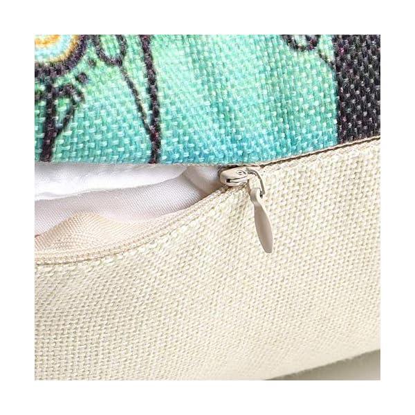 61zOcwhNruL Freeas Kissenbezug 45 x 45 cm, Baumwolle Leinen Tropische Pflanzen Kissenhülle Taille Wurf Kopfkissenbezug für Zuhause…