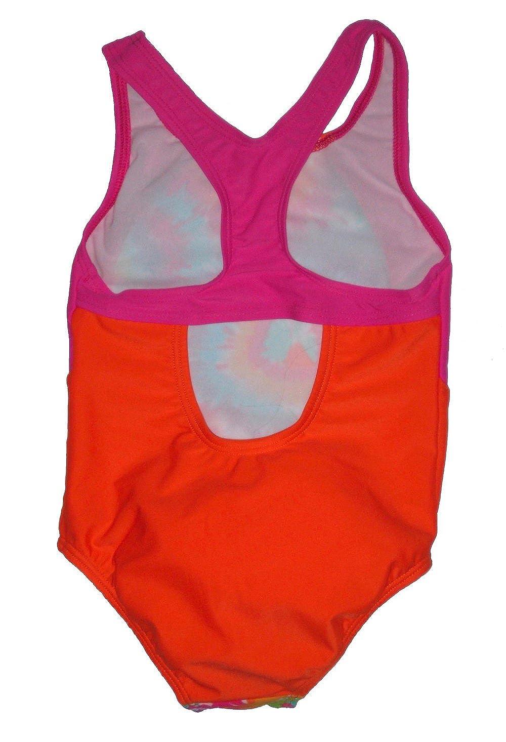 Speedo Girls One Piece Swimsuit Tie dye Pink 5