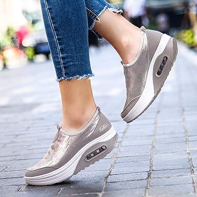 Zapatillas deportivas casuales de malla para mujer Red Ta ...