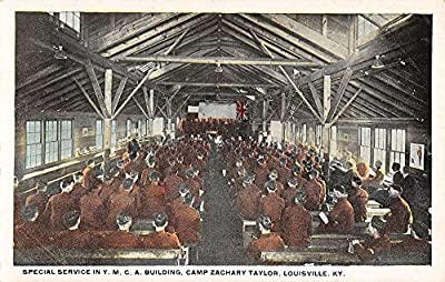 special service ymca building camp zachory taylor louisville kentucky L4739 antique postcard