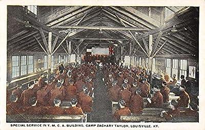 special service ymca building camp zachory taylor louisville kentucky L4739 antique postcard