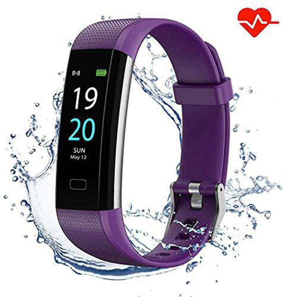 Showyoo Pulsera Actividad Ritmo Cardíaco Monitores de Actividad Pulsómetro Podómetro Impermeable IP68 Pulsera Presion Arterial Smartwatch, Reloj Inteligente Deportivo Mujer Hombre niños