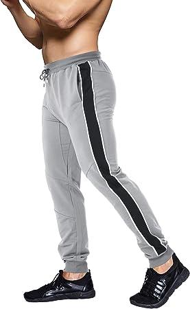 EKLENTSON Pantalones de algodón para hombre, pantalones de chándal ...