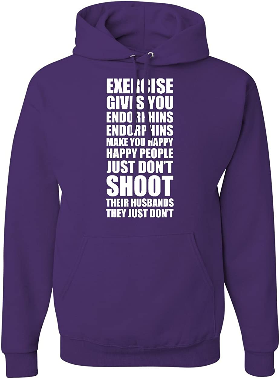 CheapAssTees Exercise Gives You Endorphins Hoodies