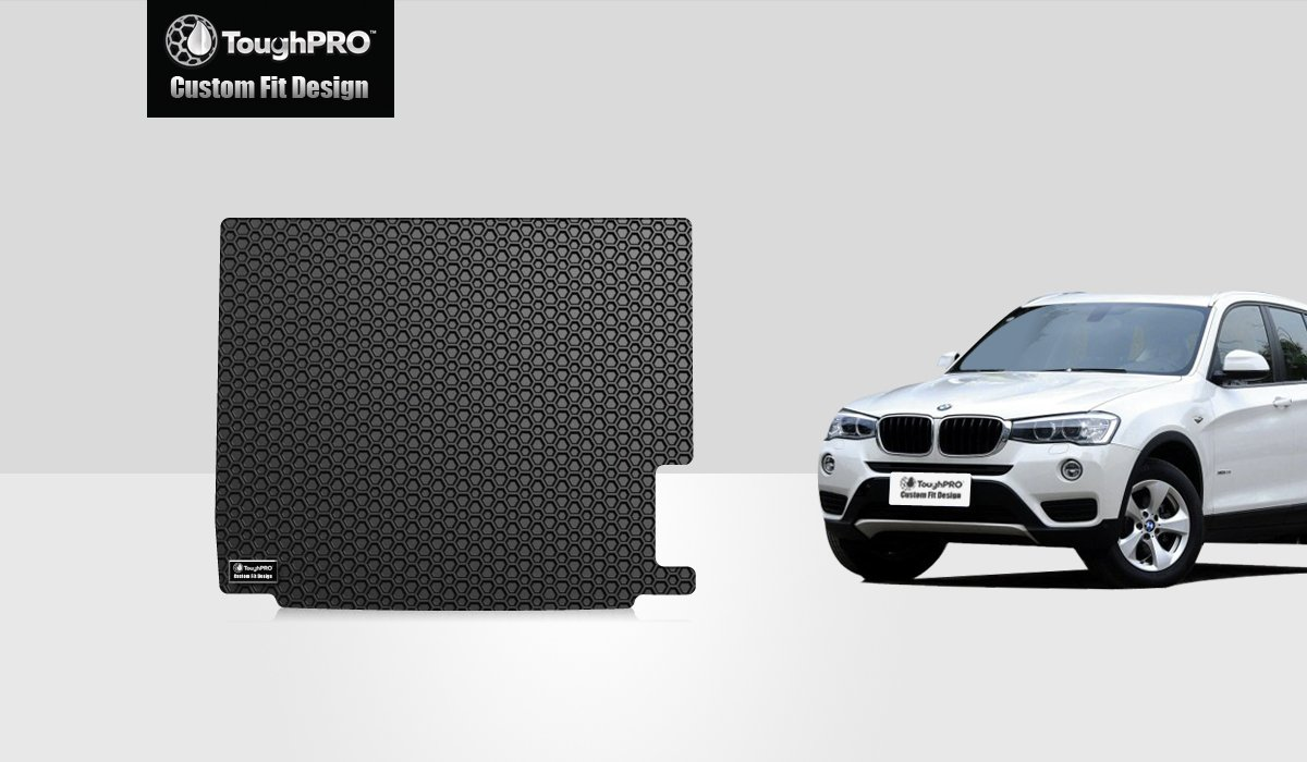 Amazon com toughpro bmw x3 cargo mat all weather heavy duty black rubber 2011 2017 automotive