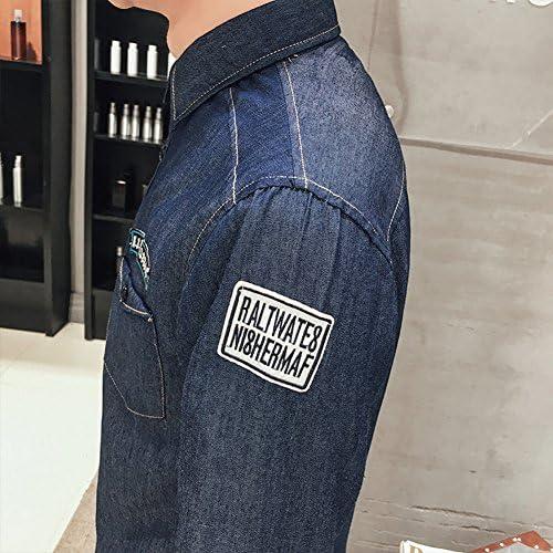 メンズ 長袖 デニムシャツ ウェスタンシャツ 長袖シャツ ポケット付き アメカジ カジュアル ファッション シャツ 男性 用 春服 夏服 秋服