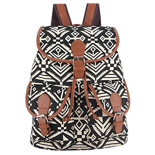 Money coming shop New 2017 Handmade National Bohemian Vintage Style Printing Canvas Backpack for Teenage Girls Bagpack Sac a Dos