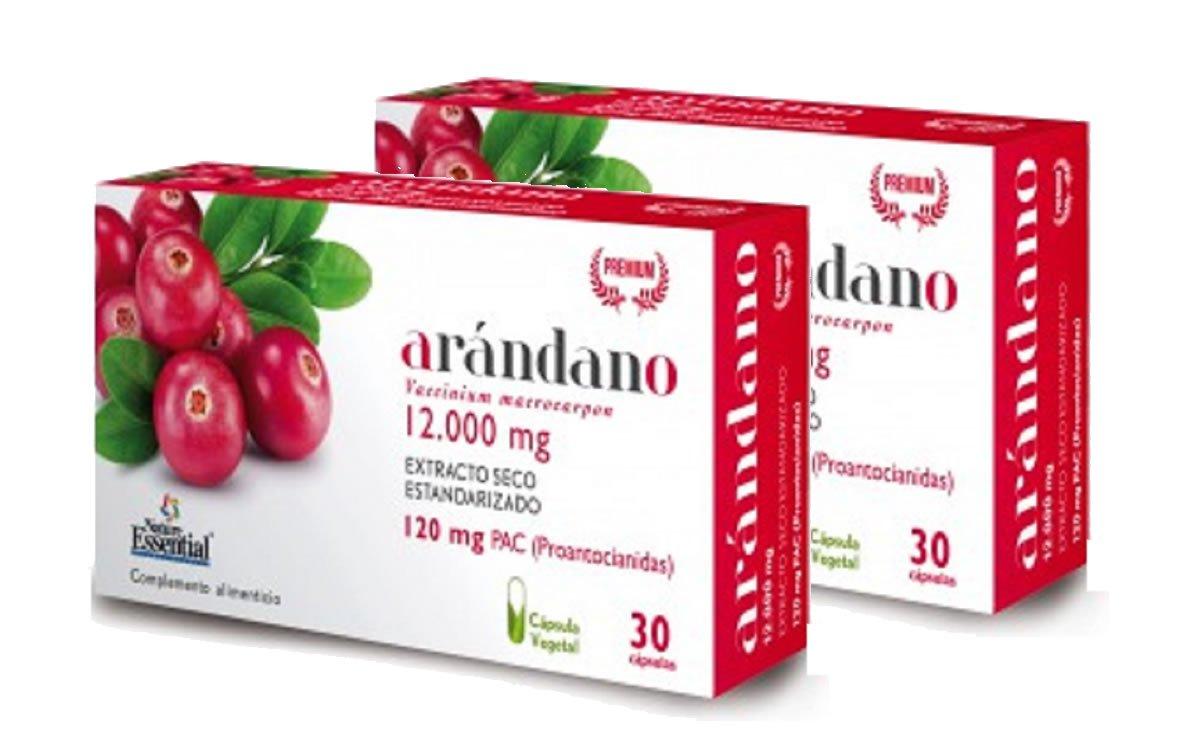Arándano rojo extracto seco 240 mg (120 mg PAC) 30 cápsulas vegetales con Gayuba, D-manosa, vitamina C y cobre: Amazon.es: Salud y cuidado personal