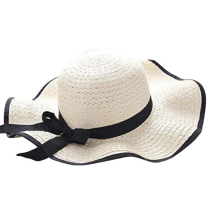 Gorros Gorro Ancho para Sombrero De Mujer Verano Sombrero Modernas Casual De Paja Sombrero De Playa