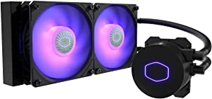 Cooler Master MasterLiquid ML240L RGB V2, Close-Loop AIO CPU Liquid Cooler, 3rd Gen Dual Chamber Pump, 240 Radiator, Dual SickleFlow 120mm for AMD Ryzen/Intel 1151 (MLW-D24M-A18PC-R2)