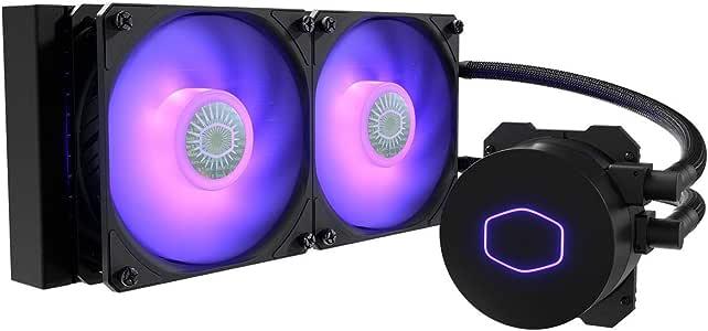 Cooler Master MasterLiquid ML240L RGB V2, Close-Loop AIO CPU Liquid Cooler, 240 Radiator, Dual SickleFlow 120mm, RGB Lighting, 3rd Gen Dual Chamber Pump for AMD Ryzen/Intel LGA1200/1151