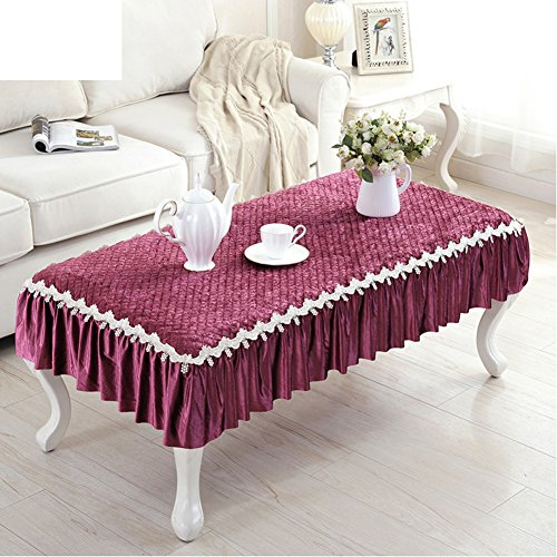 European Coffee Table Pad,Cloth Waterproof Anti-hot Soft Tablecloth,Coffee Table Table Mat-D 90x160cm(35x63inch) by Table Cloths