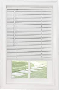 """Classic Touch Cordless 1"""" Light Filtering Mini Blind, 26"""" Wide x 64"""" Long, White"""