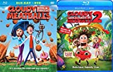 Cloudy With a Chance of Meatballs 1 & 2 Animated Family Comedy Fun 2-Movie Blu-ray/DVD Combo BUndle