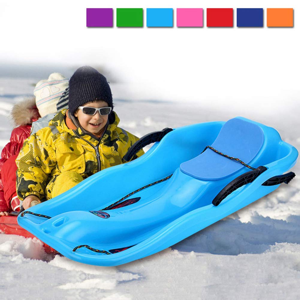 WAQIA Oh Snow Sled for Kids Downhill Sleds Sleigh for Kids