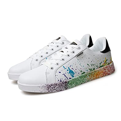 Men and Women's Personality Flat Shoes Printing Casual Sports Skateboarding Shoes Fashion Sneaker