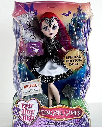 Mattel DHF97 - Ever After High Toy - Dragon Games - Teenage Evil Queen Deluxe Special Edition Doll