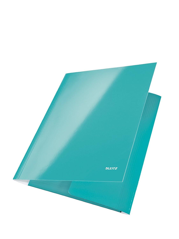 Leitz Carpeta de 3 solapas WOW, WOW, solapas Capacidad para 250 hojas, A4, Cierre elástico, Plástico flexible, Púrpura, 39820062 e4e159
