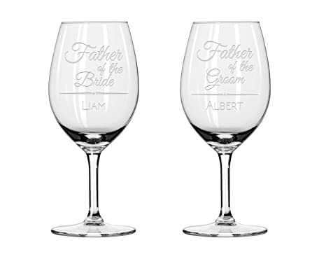 Amazon 2x Wine Glasses Father Of Groom Wine Glasses Father
